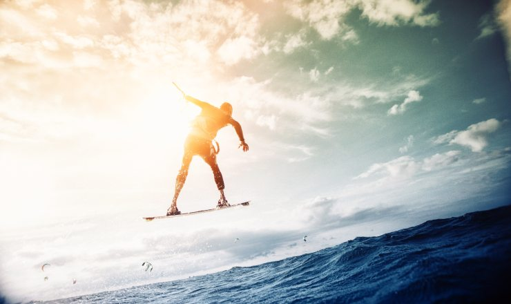 wakeboarder soaring